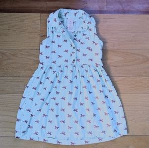 Carter's horse print button down dress 4